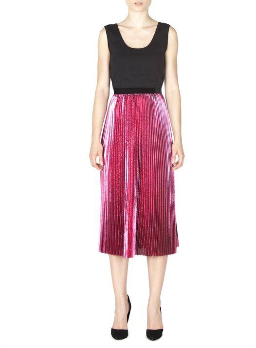 Naughty Dog FW1617 plissé metallic skirt