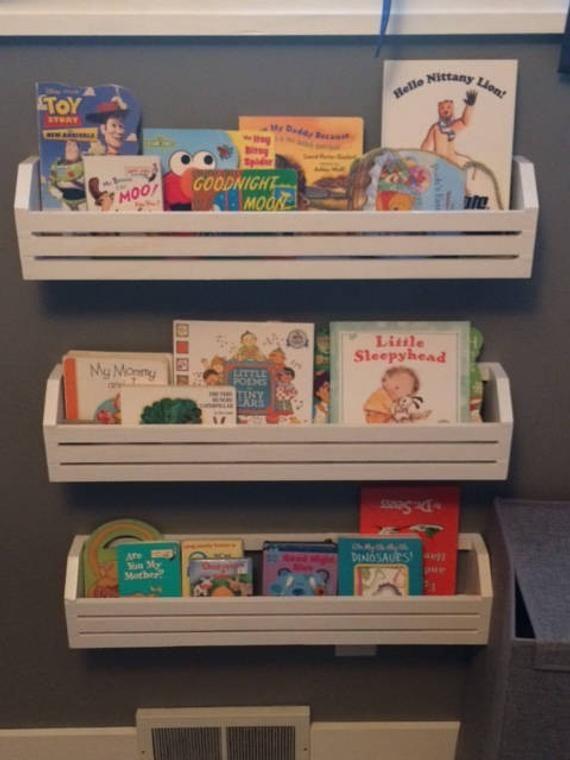 Childrens Book Shelves Set Of 3 Kids Book Shelves Hanging Book