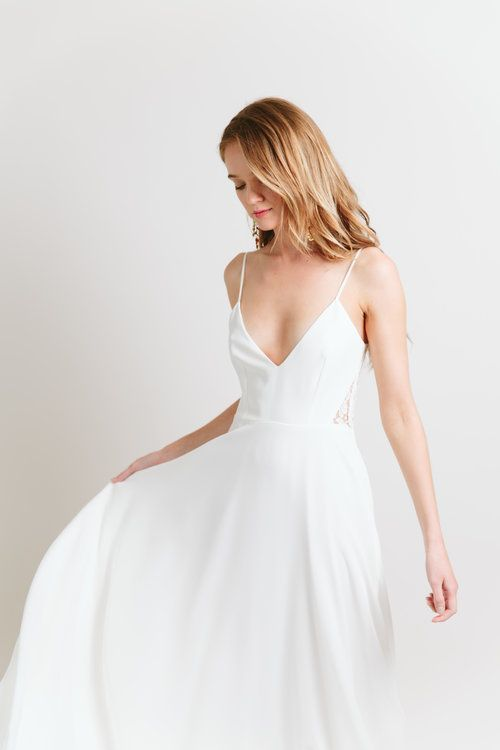 A very lovely minimalist wedding dress, don't you think? ---repinned by sheer ever after weddings