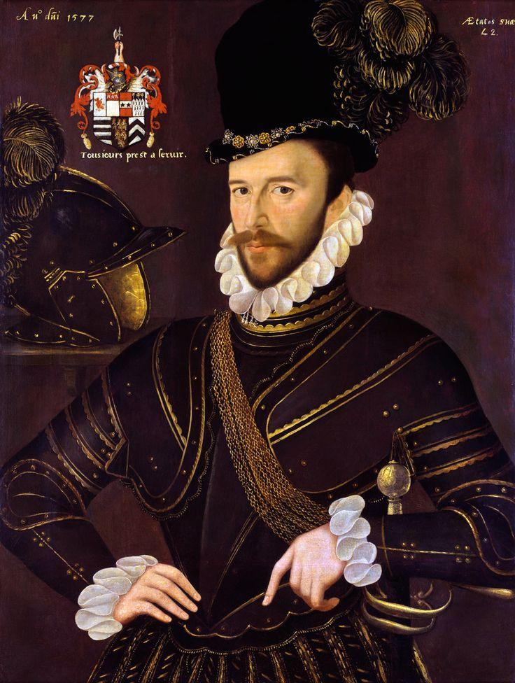 Richard Drake 1577 at age 42 by George Gower (1540 – 1596)