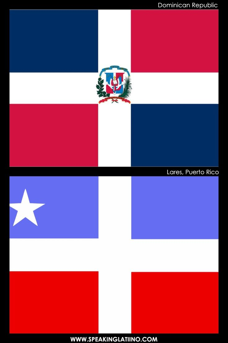 Hispanic Flags With Similar Flags from Around the World: DOMINICAN REPUBLIC AND LARES, PUERTO RICO: INSPIRED BY THE DOMINICAN REPUBLIC. Read more about it here: http://www.speakinglatino.com/hispanic-flags-with-similar-flags/ #DominicanRepublic #Dominicana #Lares #PuertoRico #Flags #Banderas