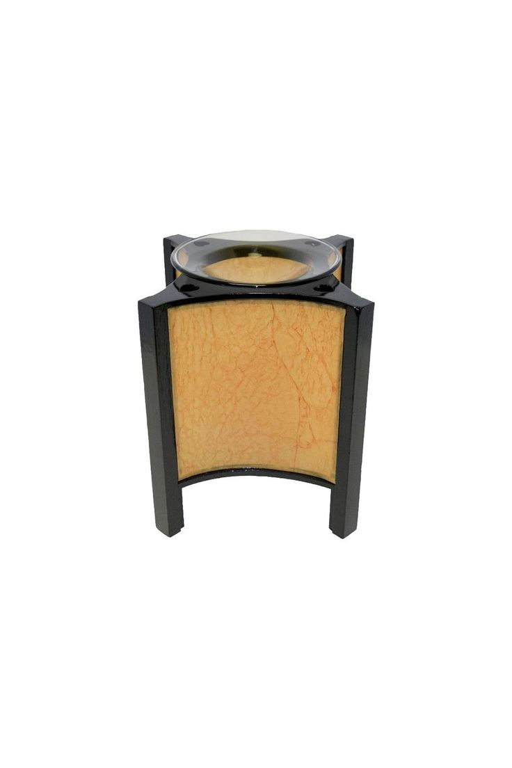 """This Asian lantern style oil warmer uses one 35 watt halogen bulb (included). You can use either scented oils or tarts in this oil warmer. The 36"""" power cord has a built in dial that allows you to adjust the heat and light. Turn it up to use as a lamp, turn it down for use as a night light. Attractive design compliments any style or decor.    This lamp measures 6.5"""" tall and 6.25"""" diameter.   Paper Lamp Warmer by Crafty Sisters Boutique. Home & Gifts - Home Decor New Jersey"""