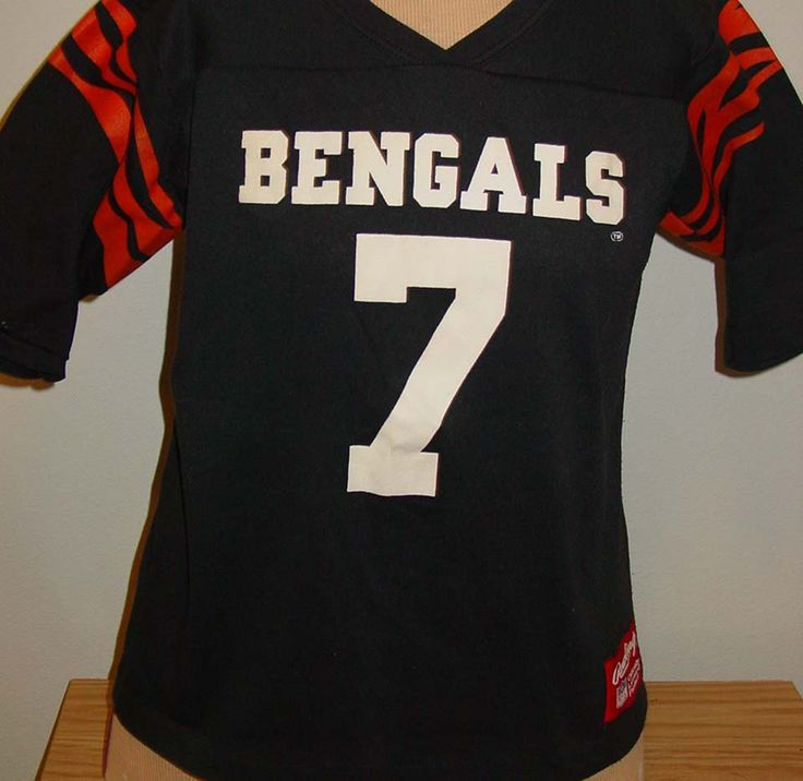 vintage 1980s Cincinnati Bengal youth football jersey t shirt Rawlings Boomer by vintagerhino247 on Etsy
