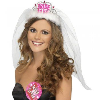 Hen Party Bride To Be Tiara And Veil | Cheap Hen Party Accessories