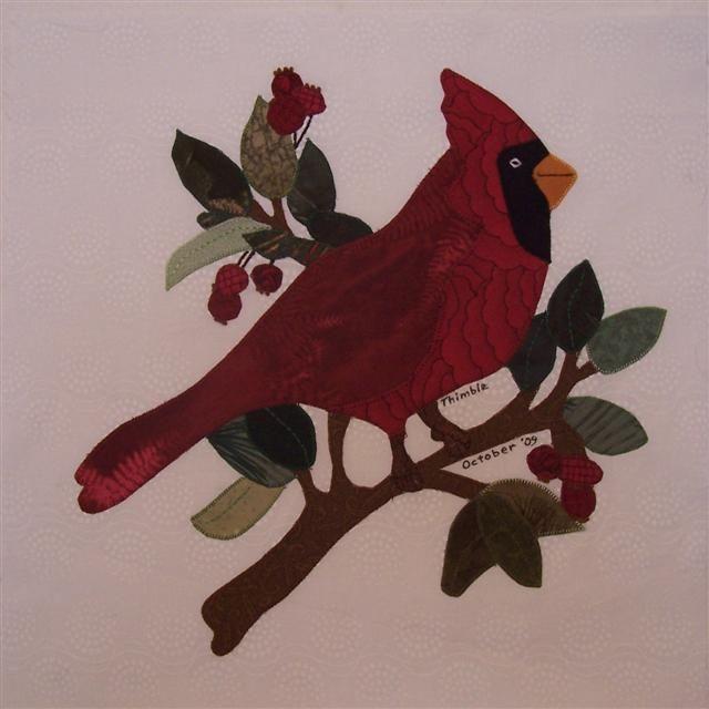 Cardinal Bird Pattern Free | Name: ThimbleOct09SwapBlock001_edited (Small).JPGViews: 2659Size: 40.0 ...