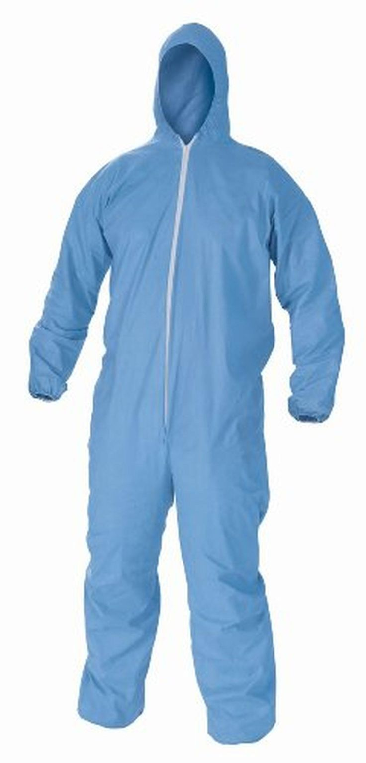 Kimberly-Clark KleenGuard A60 Three-Layer Fabric Bloodborne Pathogen and Chemical Splash Protection Coverall with Hood, Disposable, Elastic Wrist (Pack of 24) - Brought to you by Avarsha.com