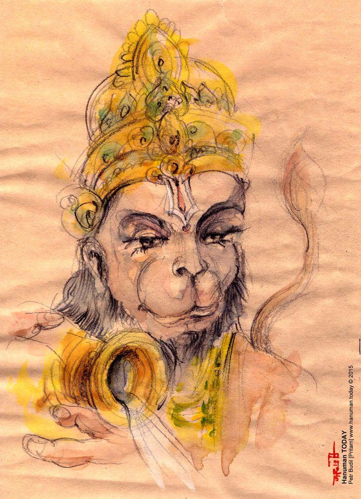 Jai Hanuman! Artwork by Petr Budil [ Pritam ] www.hanuman.today www.facebook.com/...