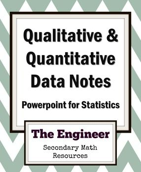 This PowerPoint presentation shows the differences between qualitative and quantitative data. Also, the presentation shows the four levels of data measurement: nominal, ordinal, interval and ratio. Examples are shown for each.