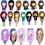 chibi girls by others