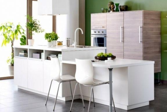 cuisine ikea design idée aménagement chaise blanche déco plantes cuisine idée meuble pas cher ikea