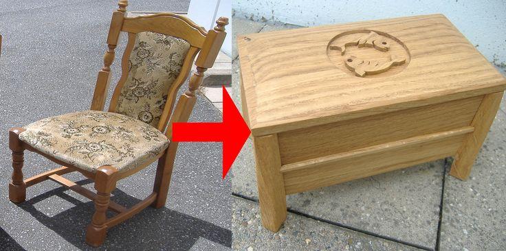 Kleine Box aus Eichenholz, oder..... Bastelanleitung zum selber...