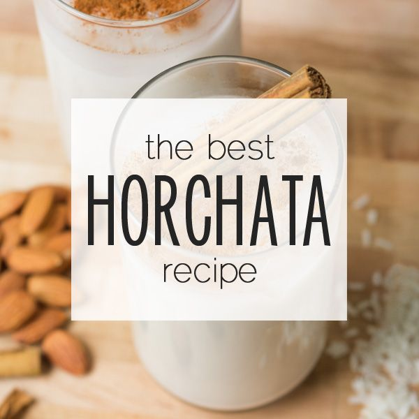 Ingredients for horchata: Long-grain white rice, 1 cup almonds 1 cinnamon stick, 5 cups water (3 cups hot, 2 cups cold), ½ cup concentrated simple syrup (2 parts sugar, 1 part water)