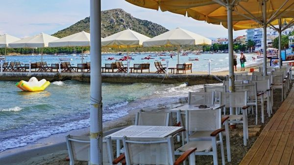 Early evening by the sea in Tolo, Peloponnese