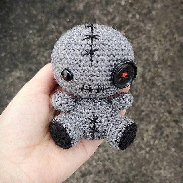 Crochet voodoo doll Horror amigurumi Voodoo doll Ugly doll Scary doll Demonic doll