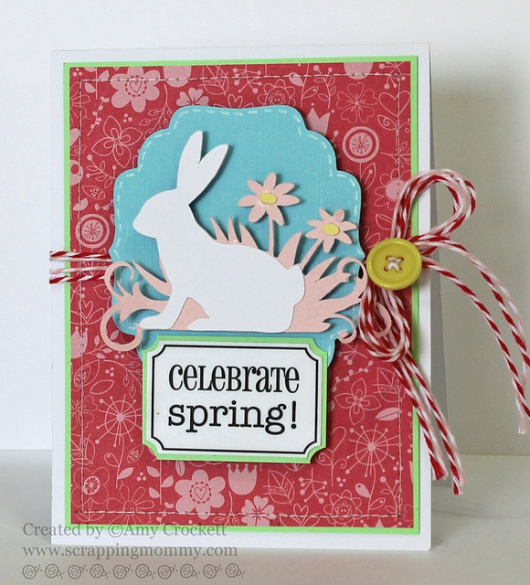 Lovely Cricut Card Making Ideas Part - 9: Spring Card : Scrapping Mommy - Cricut Card Created With CTMH Art  Philosophy And Celebrate With A Flourish Cartridges.