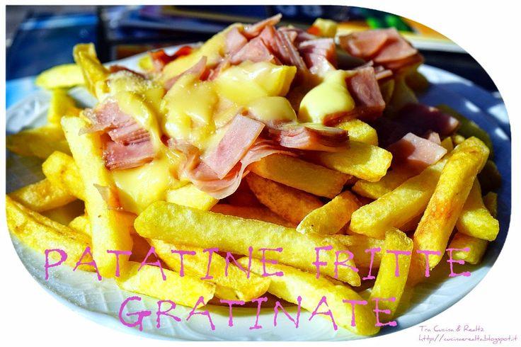 Tra Cucina & Realtà: Patatine fritte gratinate con formaggio Cheddar e Prosciutto di Praga http://goo.gl/4c6H8C