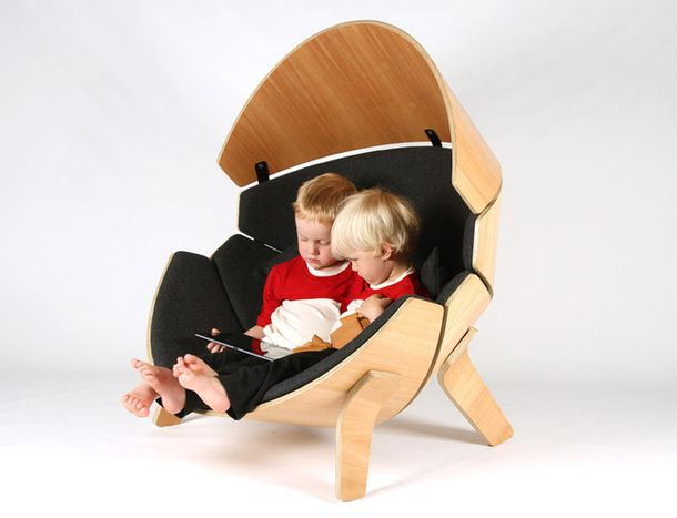 Chair Hideaway, design from Think & Shift, special for children's centers New Zealand, New Shoots.