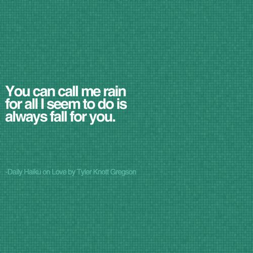 haiku poems about rain - photo #31