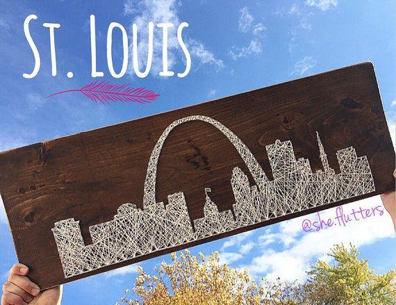 St. Louis Missouri Gateway Arch City Skyline String by SheFlutters