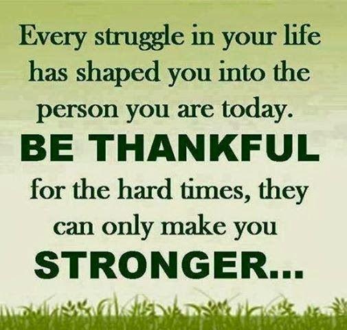 Hardships in life make you stronger