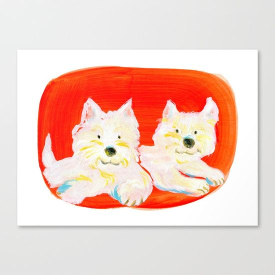 2 Dogs Art Print by Shihotana
