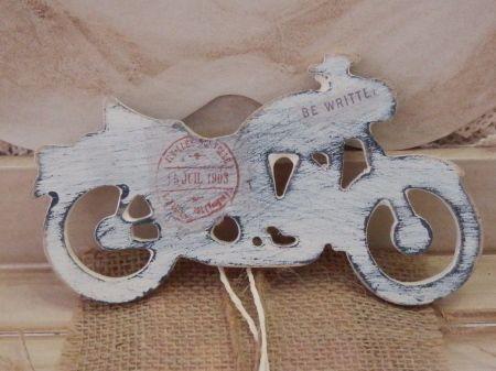 Ξυλινη παλαιωμενη μηχανη για διακοσμηση