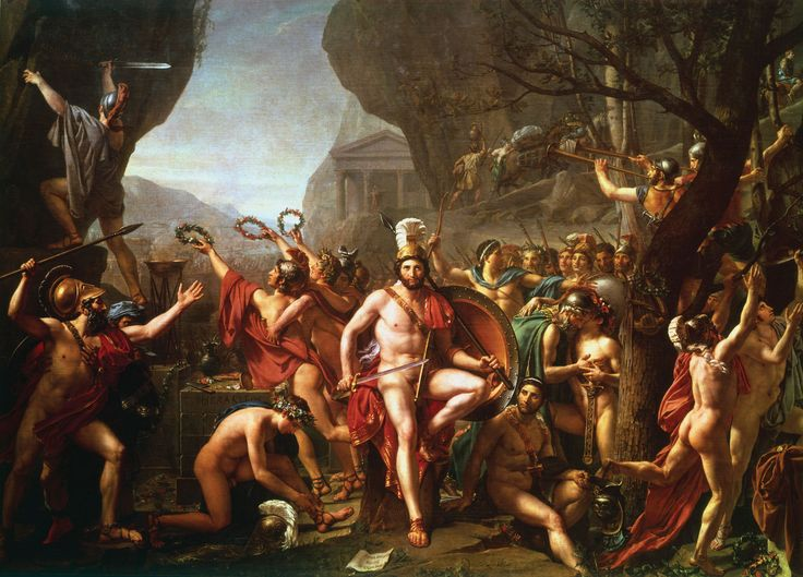 David Leonidas at Thermopylae by Jacques-Louis David