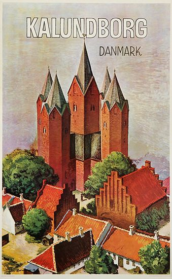 Vintage Travel Poster - Kalunborg - Denmark - 1958.