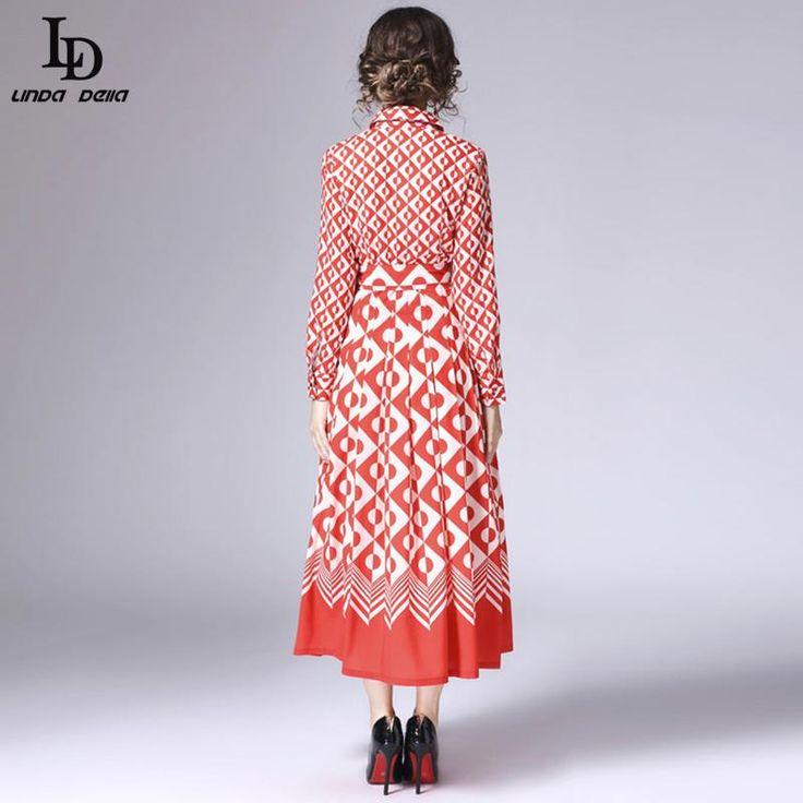Runway Maxi Dress Autumn Winter Women Floor Length Embroidery Long Dress Who like it ? www.storeglum.com... #shop #beauty #Woman's fashion #Products