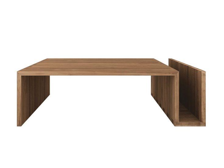 Mesa de centro de teca Coleção Teak Kubus by Ethnicraft