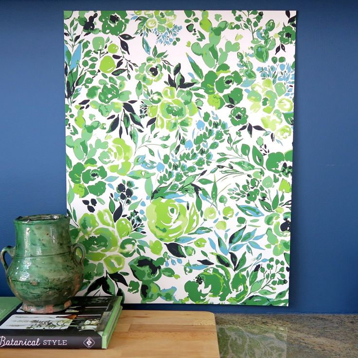 Botanic Garden Watercolor art print in greens by Bari J.