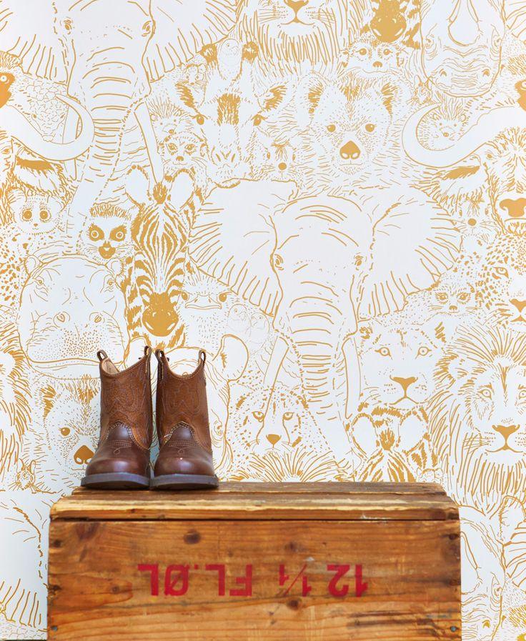 Maak de kinderkamer uniek met een mooie #jungle print op de muur