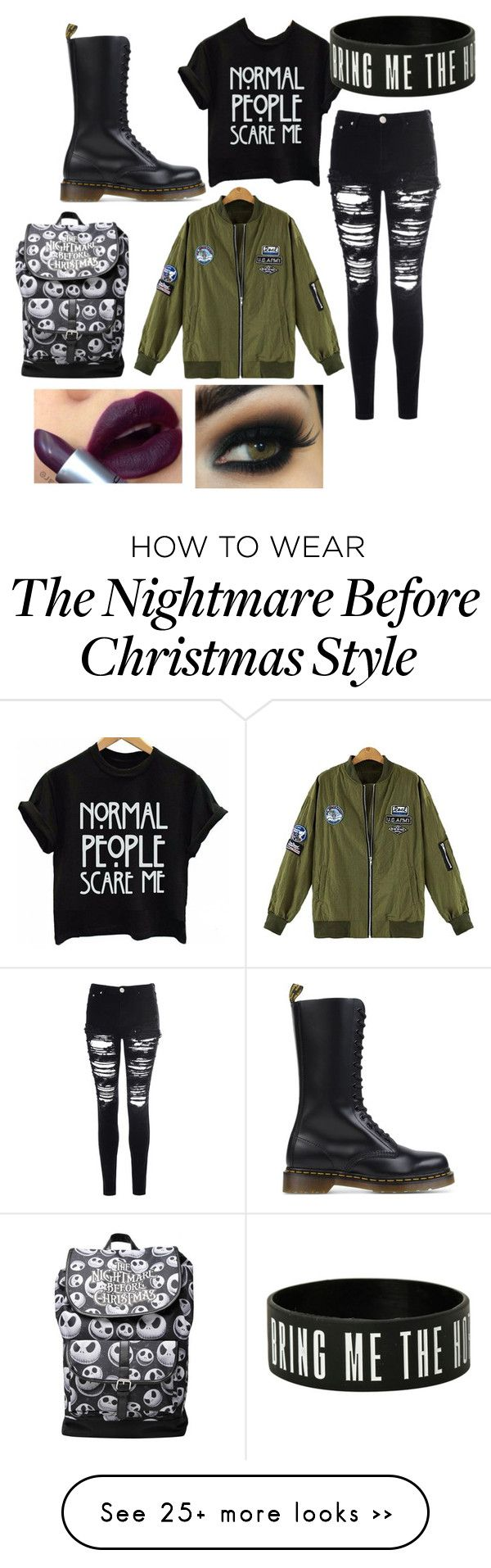 """""""Winters coming ❄️❄️❄️"""" by selina2000 on Polyvore featuring Glamorous and Dr. Martens"""
