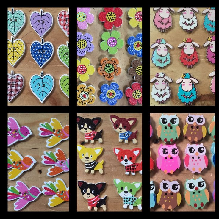 Lots of new Handpainted wooden buttons in store today. All so cute and so gorgeously painted. Great for sewing projects, scrapbooking embellishments and all types of crafts.