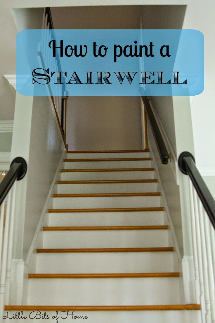 How To Paint A Stairwell Without Hiring Help Little Bits