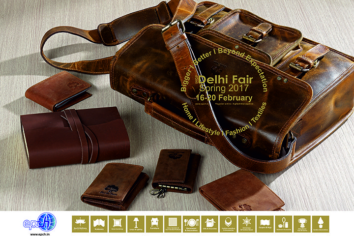 #Handcrafted vintage #leatherbags, office supplies & desk accessories……. source these and more at #IHGF Delhi Fair-Spring 2017