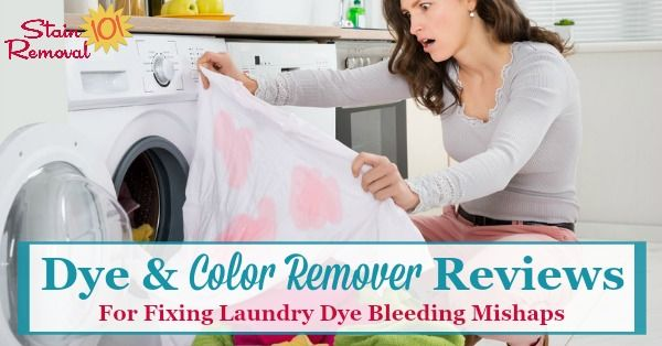 Color Remover To Get Bleeding Dye Stains Out Of Clothes Colour