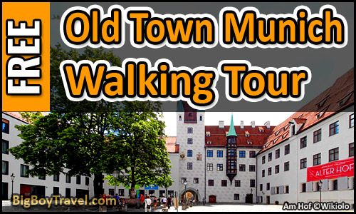 FREE Munich Walking Tour Map - Old Town Guide