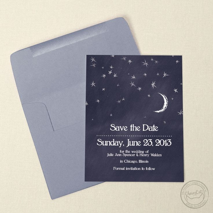 wedding invitation wording vegetarian option%0A Let these moon and stars save the date cards take you away u       Wedding  Invitations