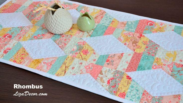 #patchwork #tutorial #youtube #rhumbus #diamonds #šablony