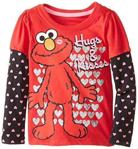 Sesame St Little Girls' Elmo Heart Long Sleeve Tee, Chinese Red, 2T Sesame St http://www.amazon.com/dp/B00FP0HN0K/ref=cm_sw_r_pi_dp_5ktYub094H3Q6