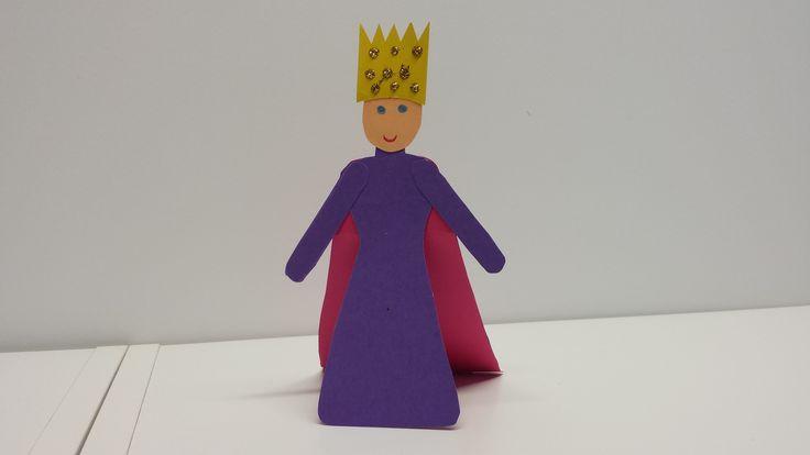Raitan kuningatar. askartelu | kädentaidot | paperi | lasten | lapset | helppo | askarrellaan | kids | children | easy | crafts | Pikku Kakkonen