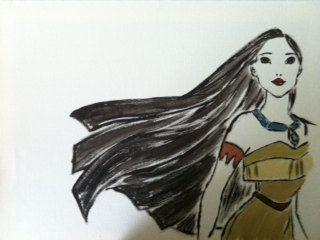 Disney Pocahontas Canvas by DelalaDesigns on Etsy, $25.00