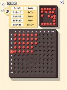 application montessori Maths multiplication - tableau