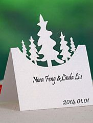 cartes de place et les détenteurs arbre de Noël carte de place (jeu de 12)