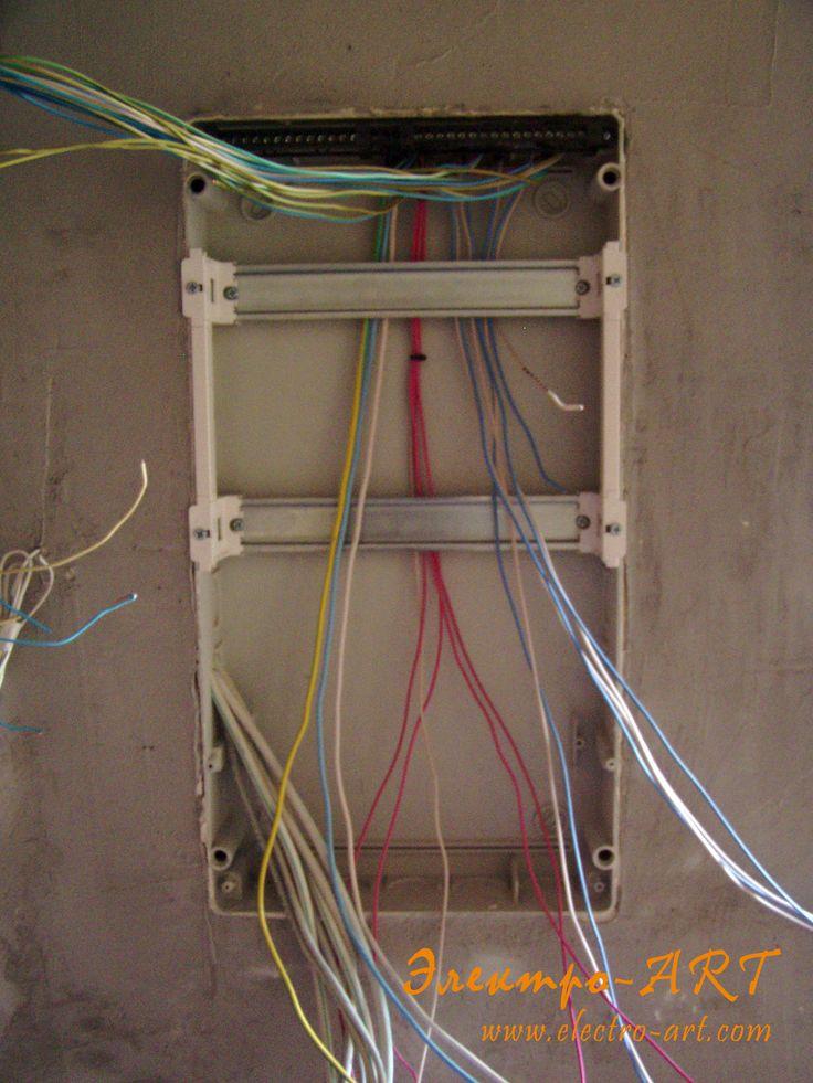 Разделка кабеля и начало работ в щите