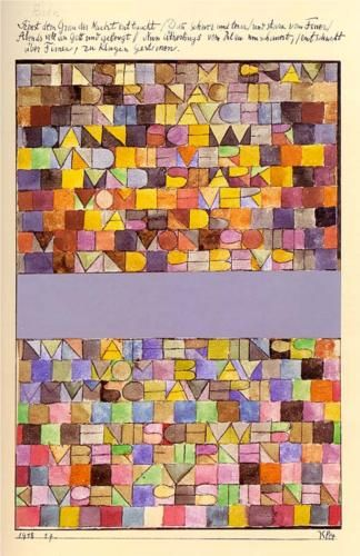 Once Emerged from the Gray of Night - Paul Klee. Spent many art lessons years ago reproducing this.