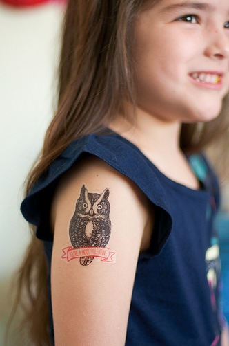 Temporary Tattoo Valentines- Free Download and tutorial