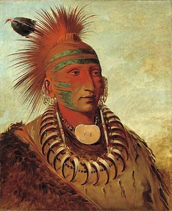 Warrior Iowa tribe, George Catlin