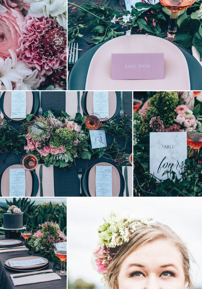 """Marble Sweetness"" wedding suite created by Peach Perfect, Australia"